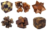 6 Wooden Puzzles Gift Set - Small