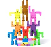 Cubebot In Colors - 3d Wooden Brainteaser Puzzle