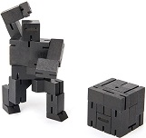 Cubebot Micro Ninja Black - Wooden Puzzle Robot Toy