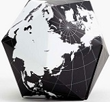 Dymaxion Folding Globe Black and White Brain Teaser Magnet Puzzle