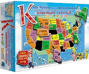USA Kids Puzzle - 55 Pieces States Shaped Pieces