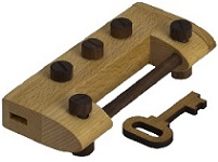 Dial and Turn Lock - IQ Locker Series Wooden Puzzle
