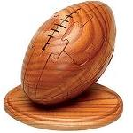 Football 3d Wooden Puzzle Sports With Trivia Cards