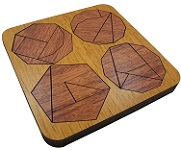 Mathe Quadrat - Wooden Geometric Math Puzzle
