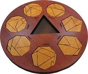 Mathekreis - Wooden Geometric Math Puzzle