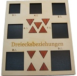Dreiecksbeziehungen (Love Triangles) - Math Packing Problem Wooden Puzzle