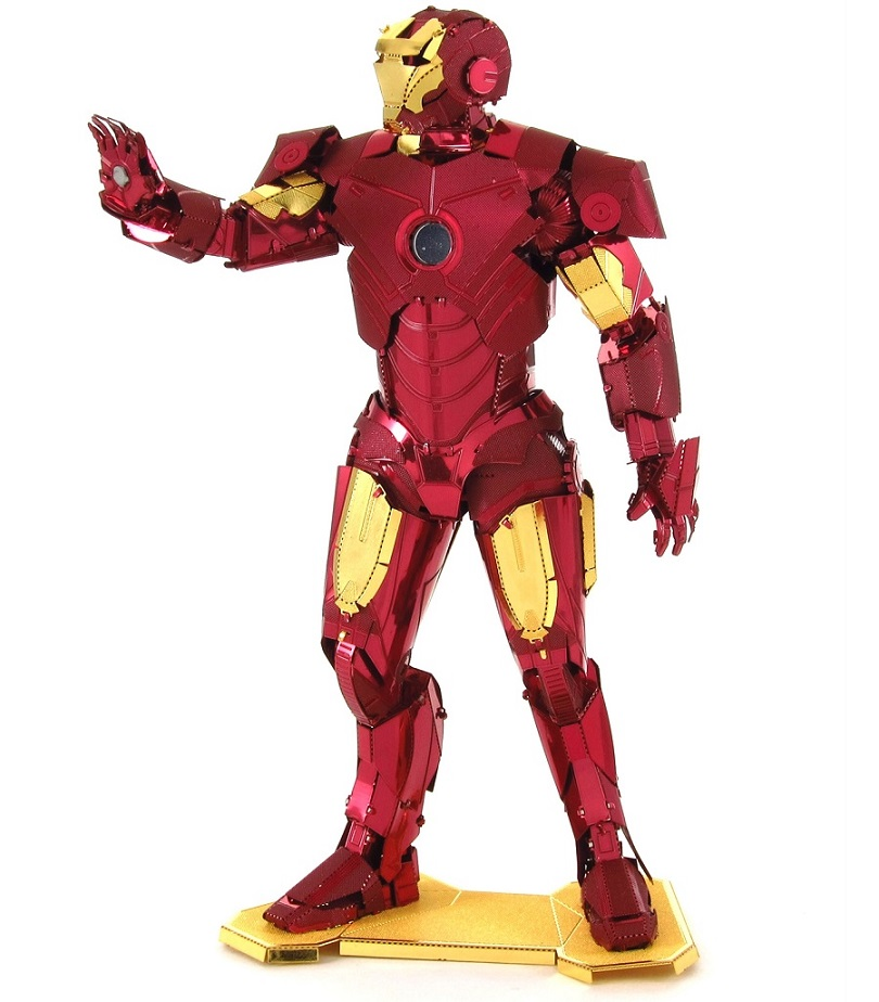 Iron man metal earth 3d model puzzle