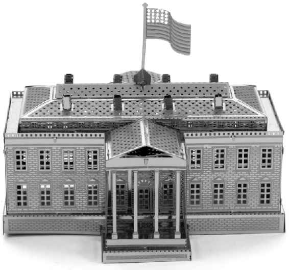 White House Metal Earth 3d Model Puzzle