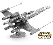 XWing Star Fighter Star Wars - Metal Earth 3D Model Puzzle