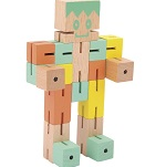 Puzzle Boy (Orange, Green and yellow) -  Twisting cube Wooden puzzle