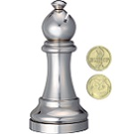 Cast Chess Bishop Silver - Hanayama Metal Puzzle