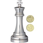 Cast Chess King Silver - Hanayama Metal Puzzle