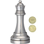 Cast Chess Queen Silver - Hanayama Metal Puzzle