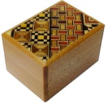 2 Sun 10 Steps Yosegi & Natural Wood - Japanese Puzzle Box