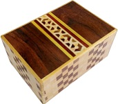4 Sun 4 Steps Hexagon Yosegi - Japanese Puzzle Box