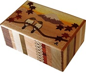 5 Sun 21 Steps Bird-Fuji - Japanese Puzzle Box