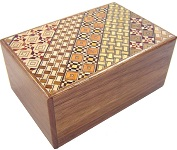 5 Sun 7 Steps Yosegi and Natural wood- Japanese Puzzle Box