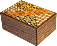 4 Sun 14 Steps Koyosegi & Walnut Wood - Japanese Puzzle Box