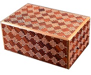 5 Sun 21 Steps Red Ichimatsui - Japanese Puzzle Box