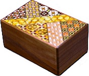 5 Sun 27 Steps Koyosegi & Walnut Wood - Japanese Puzzle Box