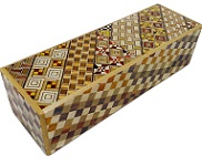 Rectangle 5 Steps Yosegi Right & Left Opening - Japanese Puzzle Box