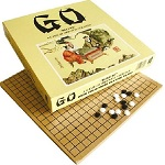 Go Game Deluxe Edition with Wooden Board