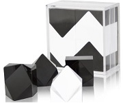 K-Dron Geometric Brain Teaser Puzzle Game In Black & white