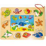 Ocean Life 2 - Wooden Magnetic Fishing Puzzle Play