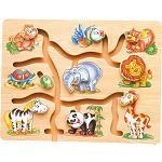 Animals Maze - Wooden Puzzle Play