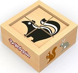 Buddy Blocks Backyard Animals - Wooden Puzzle Set