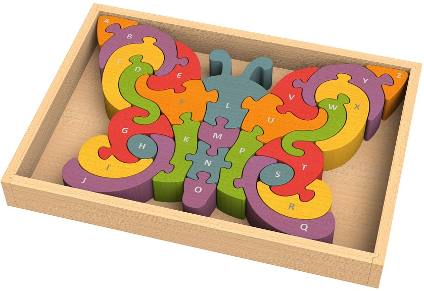 Butterfly A To Z Alphabet Chunky Wooden Puzzle