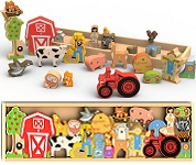 Farm A To Z Alphabet Wooden Puzzle Playset
