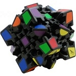 Gear Cube Black - Meffert's Rotation Brain Teaser Puzzle