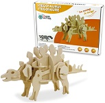 Stegosaurus - 3D DIY Wooden Dinosaur Walking Puzzle Woodcraft Kit