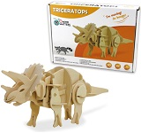 Triceratops - 3D DIY Wooden Dinosaur Walking Puzzle Woodcraft Kit