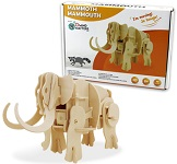 Mammoth - 3D DIY Wooden Dinosaur Walking Puzzle Woodcraft Kit