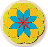 Mosaic Wooden Puzzles - Flower Style Brain Teaser