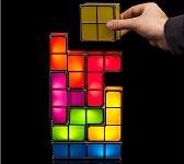 Tetris Stackable LED Desk Lamp Retro Light Game