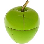 Magnetic 3d Apple Desktop Puzzle - Green