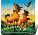 Horses  - Jigsaw 21 Pieces Wooden Puzzle