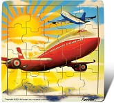 Jetliner - Jigsaw 21 Pieces Wooden Puzzle