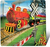 Train - Jigsaw 21 Pieces Wooden Puzzle