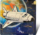 Space Shuttle - Jigsaw 21 Pieces Wooden Puzzle