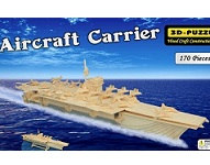 Aircraft Carrier 3D Puzzle - Jigsaw Woodcraft Kit Wooden Puzzle