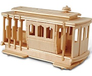 Cable car  - 3D Jigsaw Woodcraft Kit Wooden Puzzle