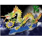 Dragon - Colored 3D Jigsaw Woodcraft Kit Wooden Puzzle