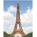 Eiffel Tower - Colored 3D Jigsaw Woodcraft Kit Wooden Puzzle