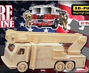 Fire Engine - 3D Jigsaw Woodcraft Kit Wooden Puzzle