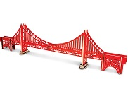 Golden Gate Bridge - Colored 3D Jigsaw Woodcraft Kit Wooden Puzzle