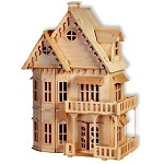 Gothic Doll House - 3D Jigsaw Woodcraft Kit Wooden Puzzle
